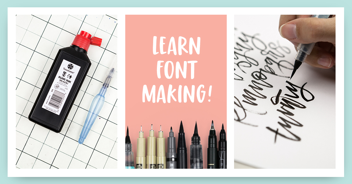 Learn font making with Teela